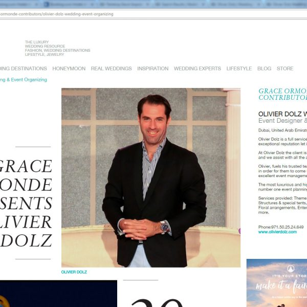 GRACE ORMONDE WEDDING STYLE MAGAZINE -FEATURED PLATINUM MEMBER